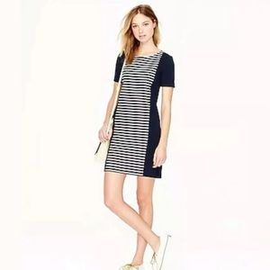 Jcrew Women's Blue Stripe Knit Shift dress SZ 00